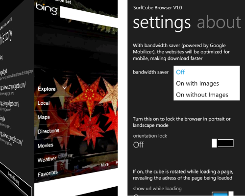 SurfCube Browser for WP7