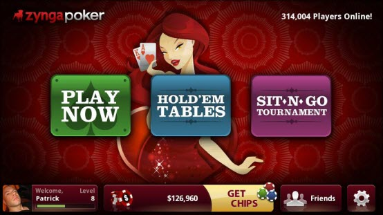 Zynga poker Android phone