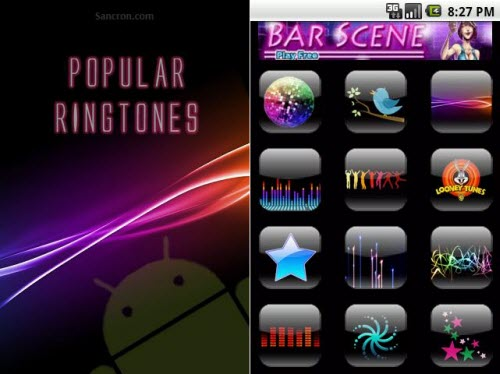 Android Popular Ringtones App