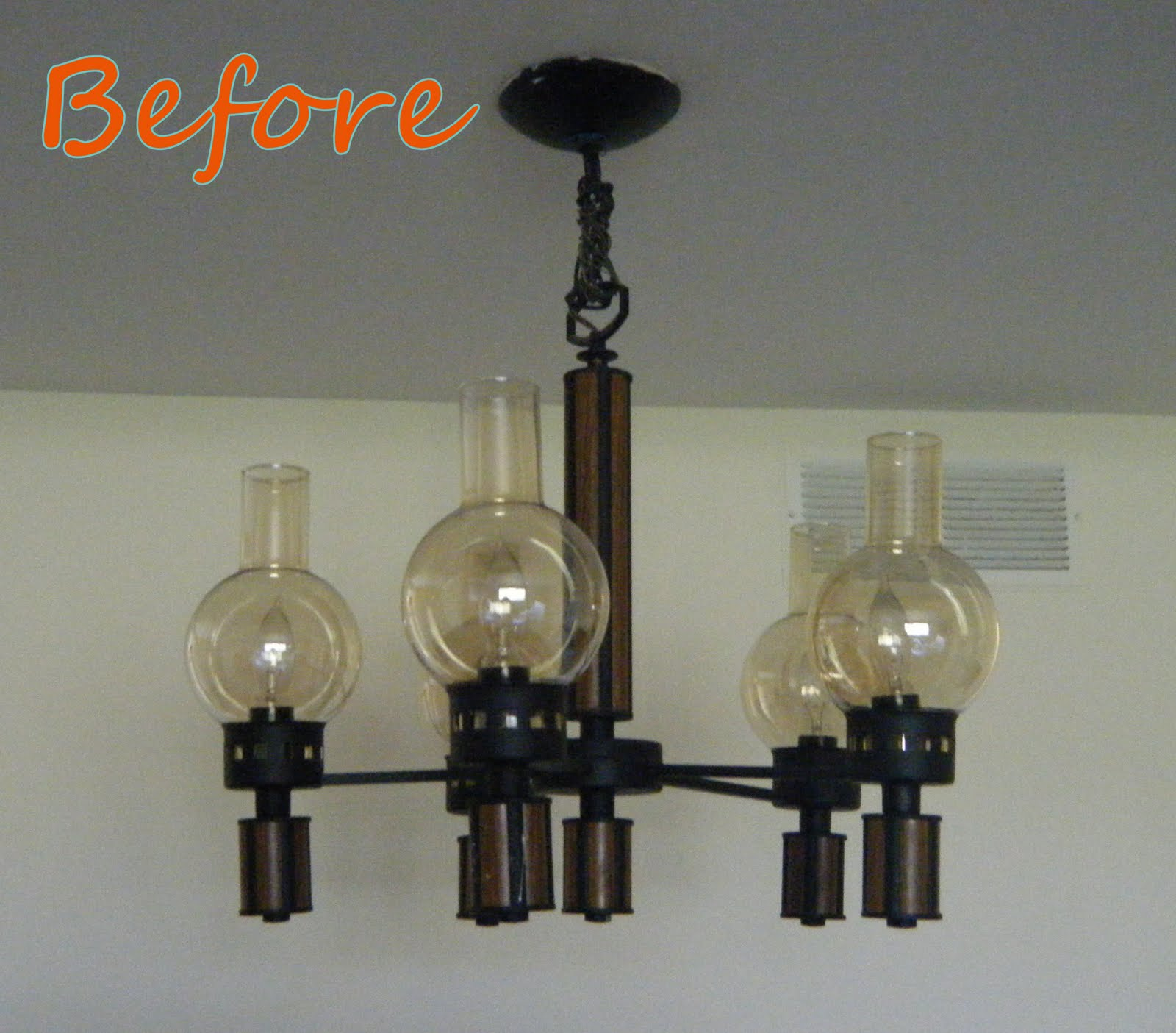 Remodelaholic diy wine glass chandelier guest project in case anyone needs to borrow a bong i have 5 aloadofball Images