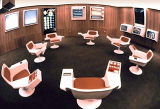Fotografía original de la sala de operaciones de CYBERSYN
