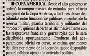 artículo en LA RAZON de Venezuela