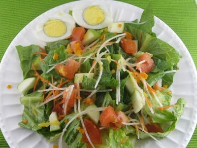 Green Salad with Fresh Orange Juice Dressing | Beachloverkitchen