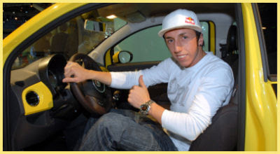 photo of Antonio Cairoli Fiat 500 - car