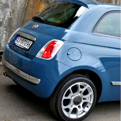 New Fiat 500 in blue