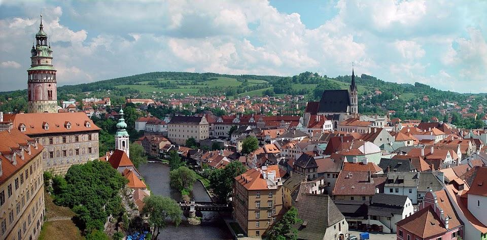 Cesky Krumlov, na República Checa, capital antiga da região de Rosenberg, possuía a nobreza mais rica e influente do país