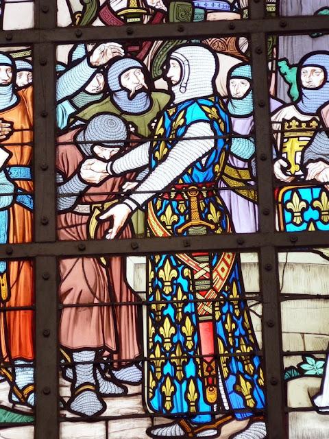 Filipe Augusto, na batalha de Bouvines.