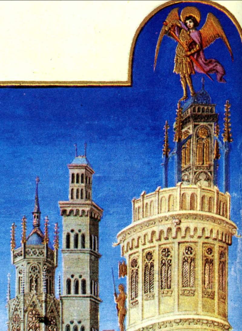 Castel Sant'Angelo em iluminura medieval