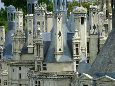 Chambord, torres e chaminés, castelos medievais