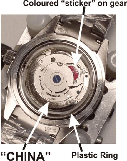 Contrafacção de relógio, pesadelo chinês