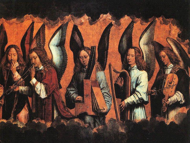 Anjos músicos. Hans Memling,
