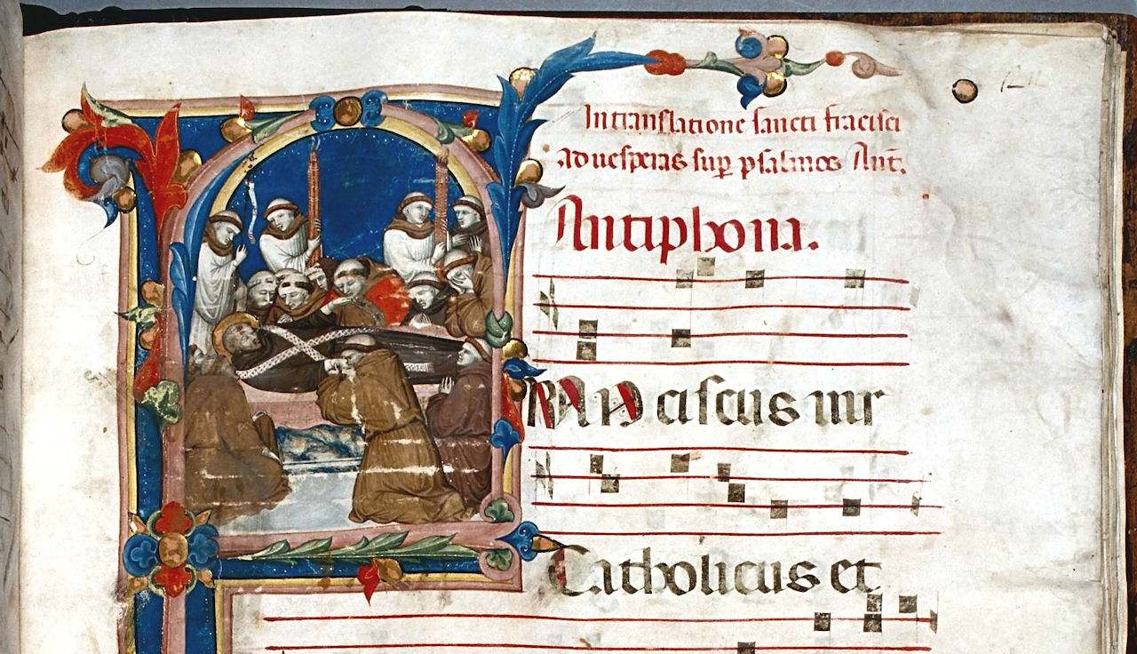 Antífona Franciscus. Morte de São Francisco de Assis. MS 1.