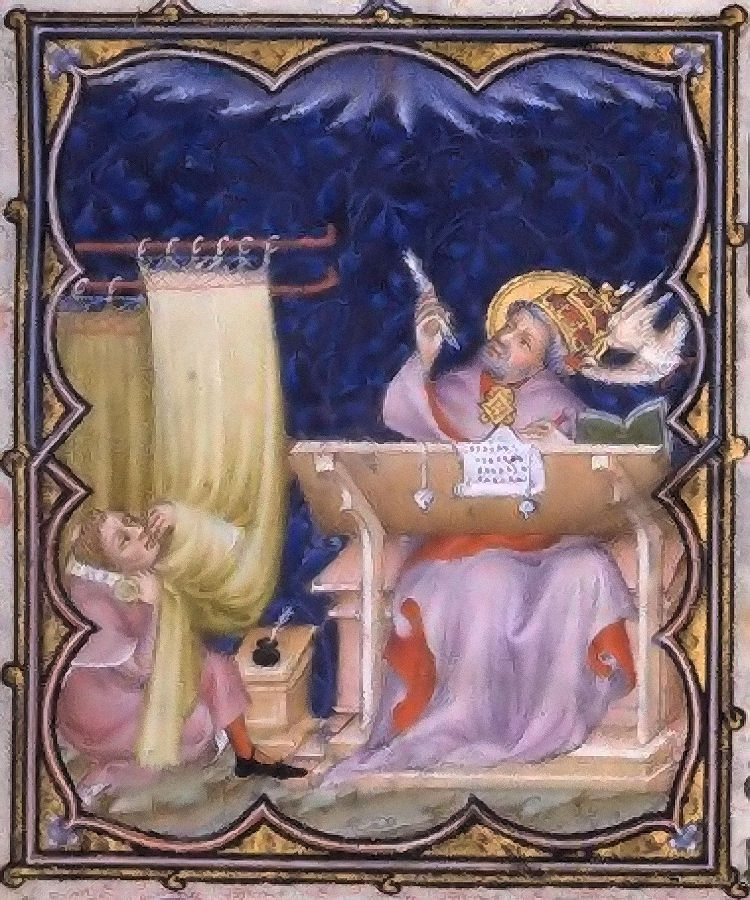 Sao Gregório Magno, Petites Heures de Jean de Berry