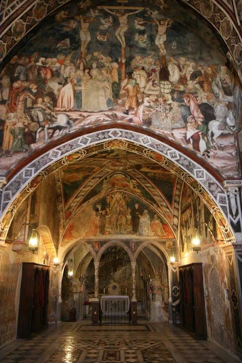 Subiaco, interior do mosteiro medieval