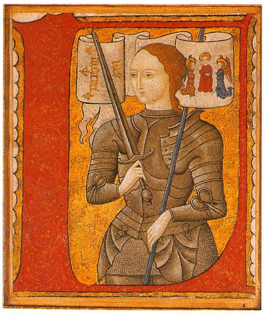Santa Joana d'Arc. Miniatura do século XV.
