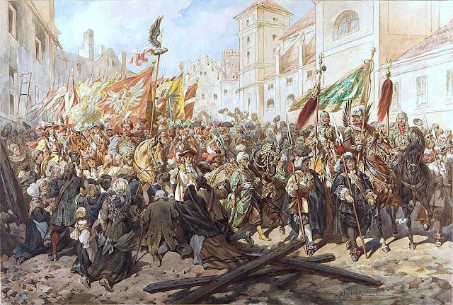 Joao III Sobieski entra em Viena