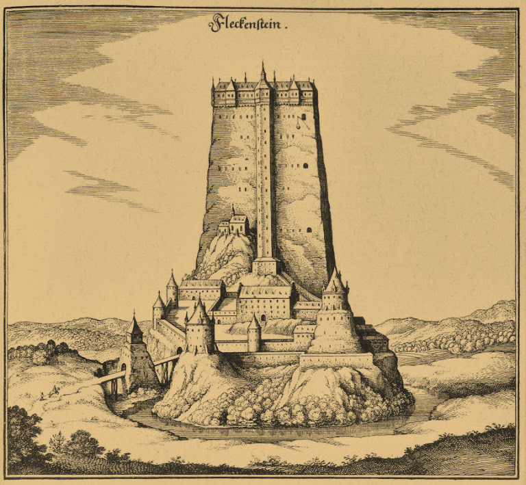 O castelo de Fleckenstein na Idade Média