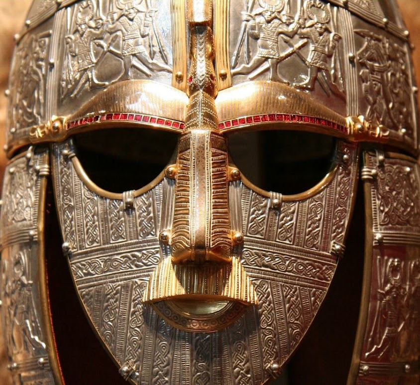 Máscara mortuória de um rei merovíngio