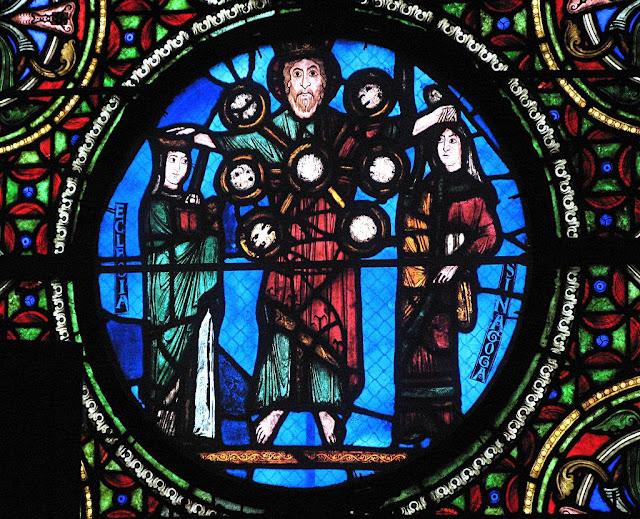 Jesus abencoa a Igreja e repele a Sinagoga, Saint-Denis