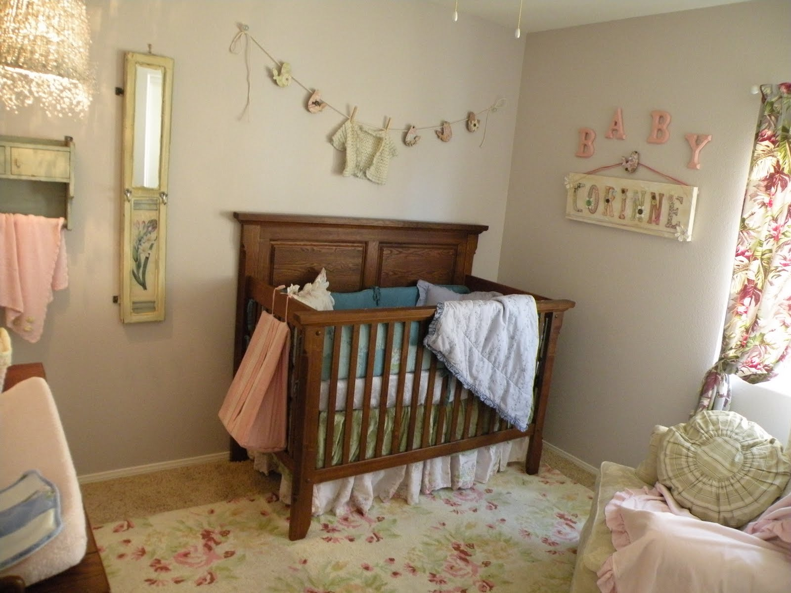 Baby Girl Decoration Room Vintage Eclectic Girl 39s Baby Nursery Design Dazzle