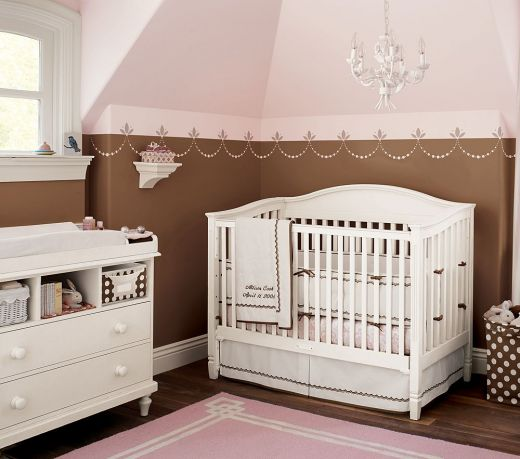 Pink & Brown Baby Nurseries