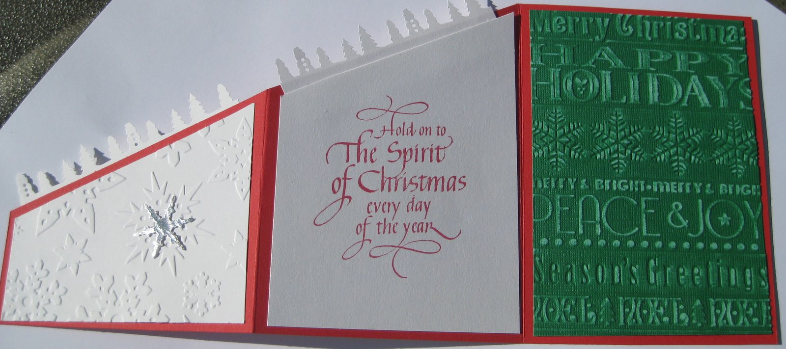 Karen\'s Kreative Kards: Z Fold Christmas Card