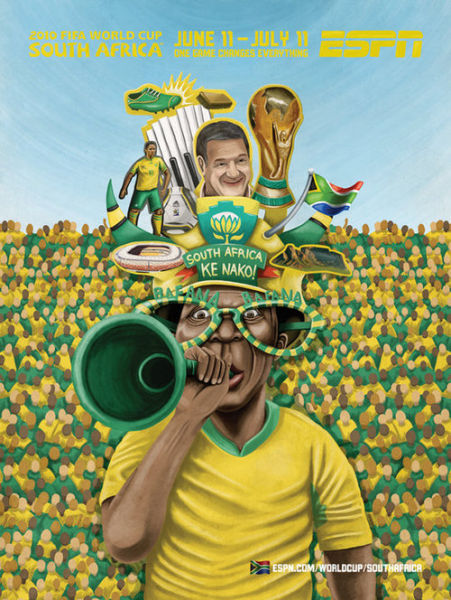 33 Creative Posters Of FIFA World Cup 2010 By ESPN Site | Just Cute Pics