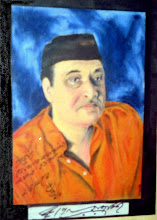 My oil painting autographed by Bhupenda