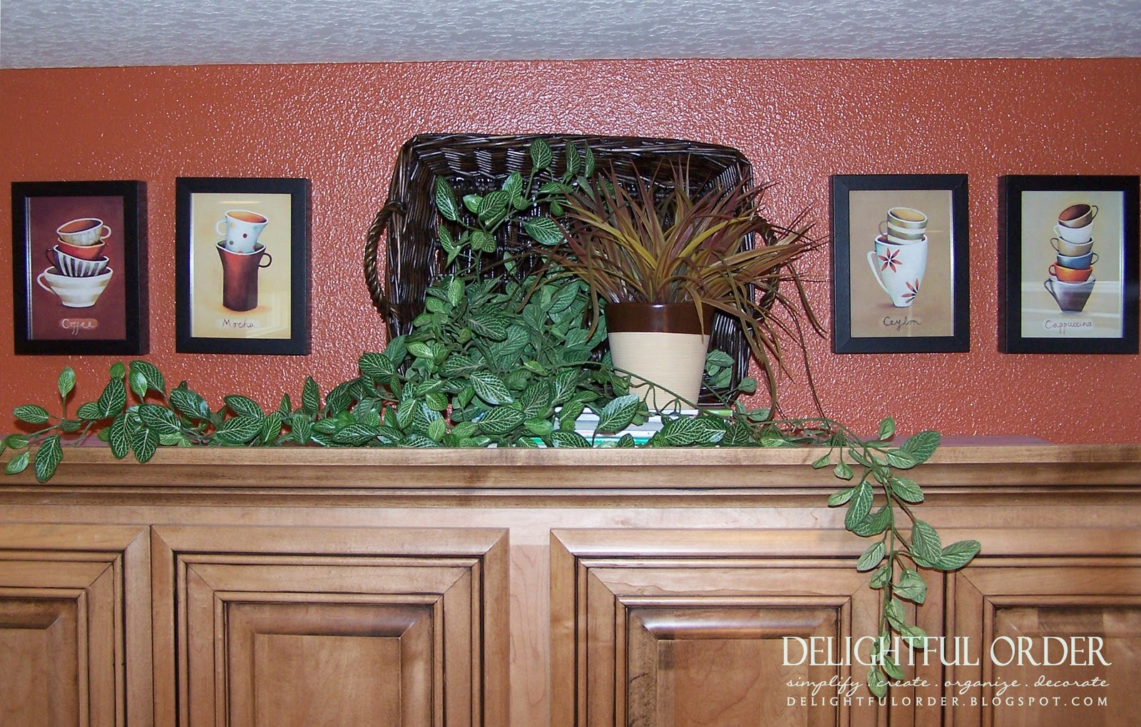 Decorating Above Kitchen Cabinets Delightful Order Home Makeover Part Iii Kitchen Dining Area