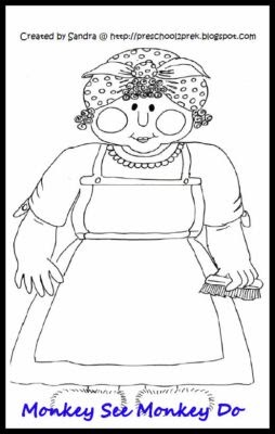 Free Homeschool Printables: Mrs Wishy Washy BLM's From