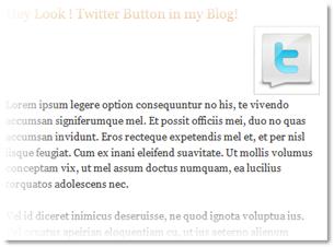 add twitter button in blogger blog