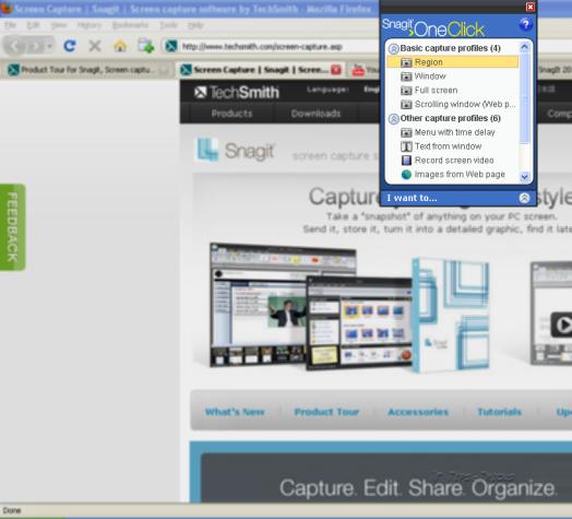 One click screen capture software