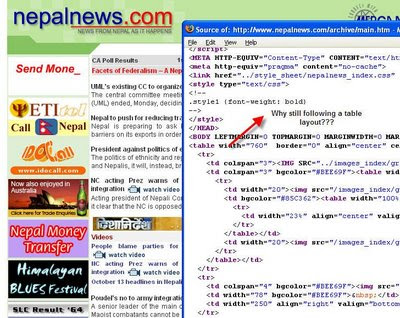 Top 7 Nepali websites out of standards - Geshan's Blog