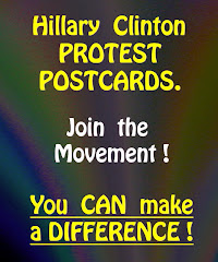 Order Hillary Clinton Protest Postcards.
