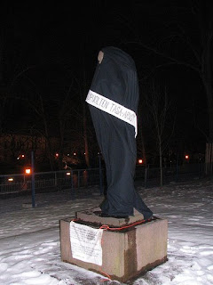 Veiled statue