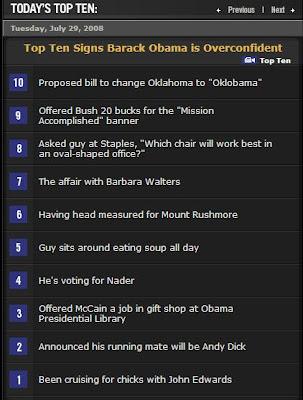 Letterman Top 10 Lists Archive