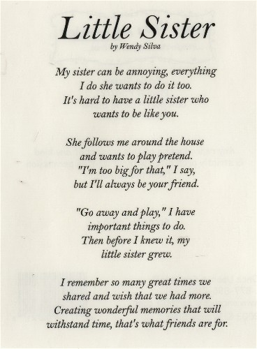 little sister birthday poems - photo #1
