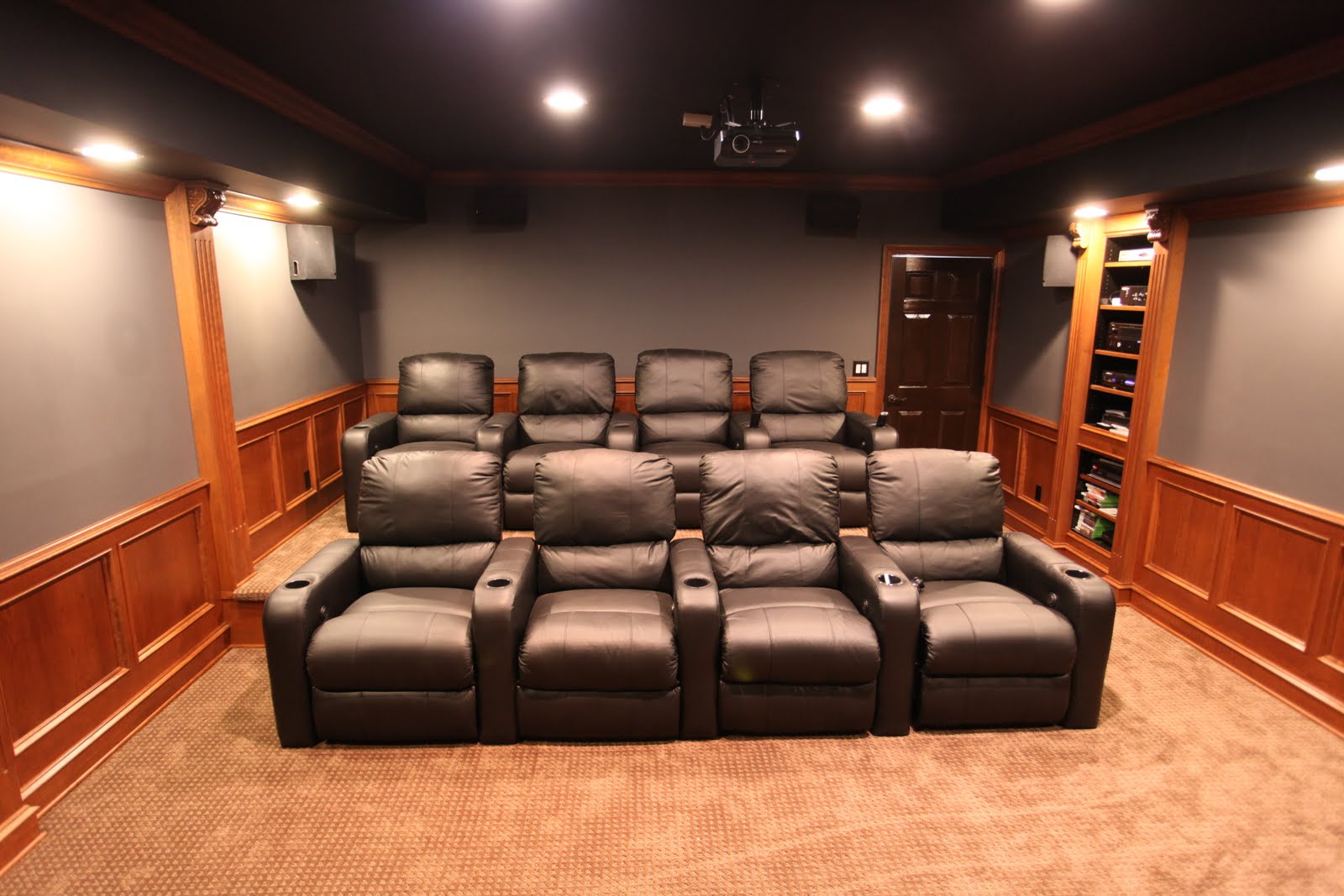 Mhi interiors theater room novi mi - Living room home theater ...