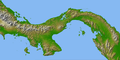 Topographic Map Of Panama.Step To Life Very Cool Topographical Map Of Panama