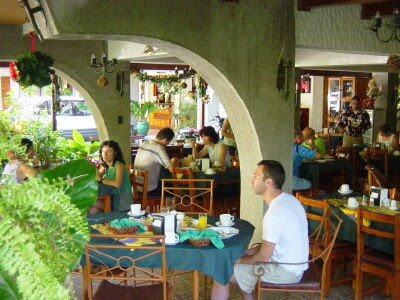 The restaurant at Hotel Andrea, Ciudad Neilly, Costa Rica