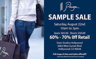 Sample Sale: Paige Premium Denim in Los Angeles