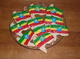 Ethiopian Flag Cookies