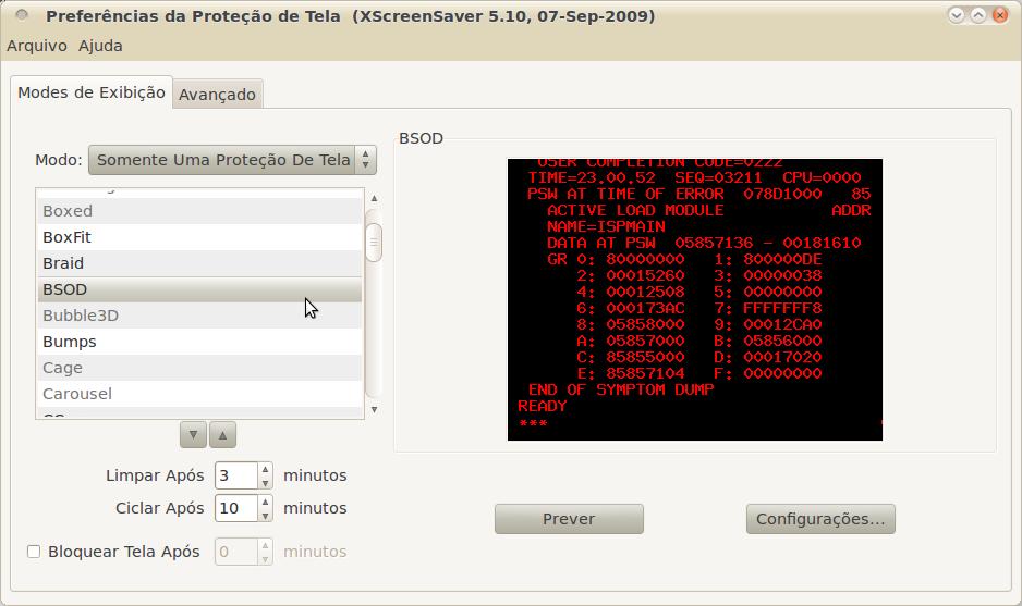 Linux-like: BSOD screensaver: a tela azul da morte no Linux