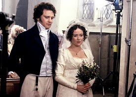 And Mr Bingley Crispin Bonham Carter His Jane Susannah Harker In A Double Wedding Artificial Snow Had To Be Carted For This Scene