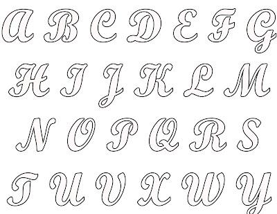 Blogg da Mirian: 4 Moldes do alfabeto completo para você