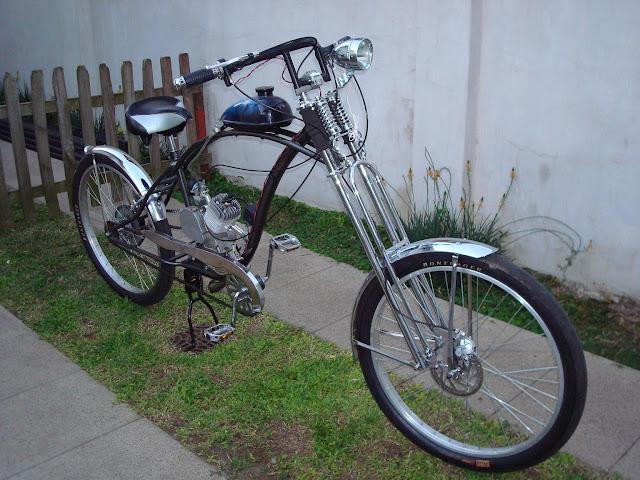 Bicicleta chopper con motor