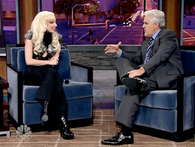 ladygagajayleno Lady Gaga: Jay Leno Interview + Bad Romance Performance