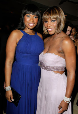 Black Tennis Pro's Serena Williams at 2010 Oscars with 2007 Oscar recipient Jennifer Hudson