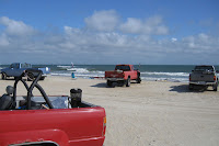 Our ORVs out on the Beach at Ocracoke