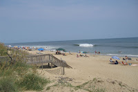 Nags Head Monday afternoon with ground swell from H Dean